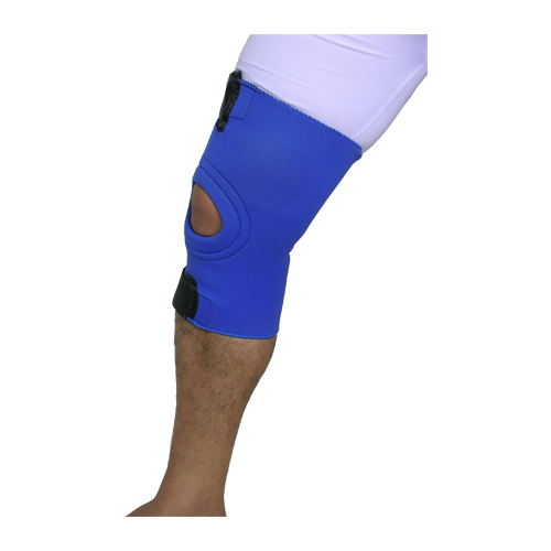KNEE SUPPORT PATELLAR OPEN WITH UPPER AND LOWER VELCRO STRAP
