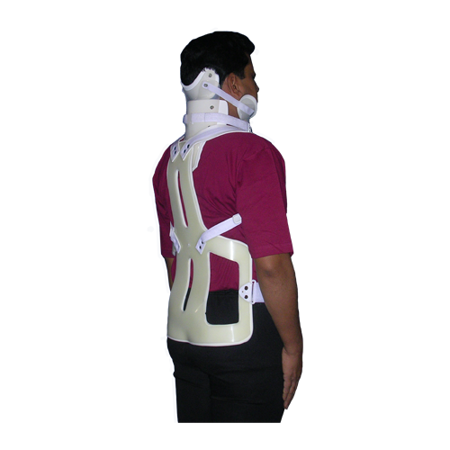 JRCO FLORIDA PLASTIC THORACO LUMBO SACRAL ORTHOSIS (T.L.S.O.) WITH CERVICAL ORTHOSIS AND ANTERIOR PAD