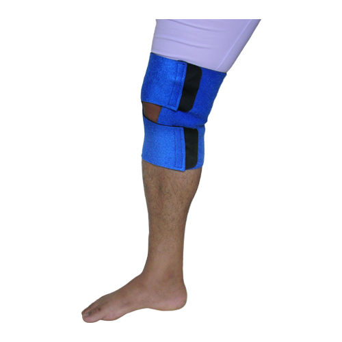 KNEE SUPPORT ADJUSTABLE WITH BIFURCATED VELCRO STRAP 9""